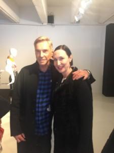 Tina Grube mit Wolfgang Joop